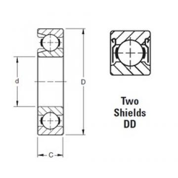 80 mm x 140 mm x 26 mm  Timken 216WDD deep groove ball bearings