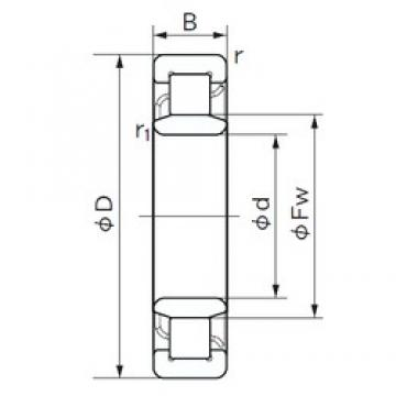 190 mm x 340 mm x 92 mm  NACHI NU 2238 cylindrical roller bearings