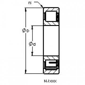 AST NJ234 EM cylindrical roller bearings