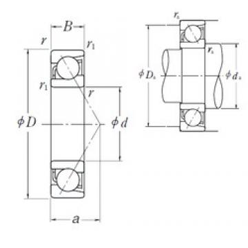 65 mm x 120 mm x 23 mm  NSK 7213 B angular contact ball bearings