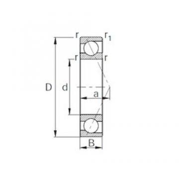 170 mm x 310 mm x 52 mm  CYSD 7234B angular contact ball bearings