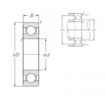 45 mm x 58 mm x 7 mm  NTN 6809 deep groove ball bearings