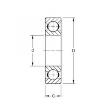50 mm x 110 mm x 27 mm  Timken 310K deep groove ball bearings