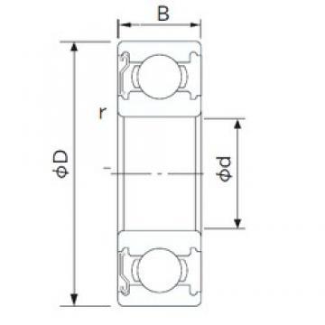 120 mm x 180 mm x 28 mm  NACHI 6024Z deep groove ball bearings