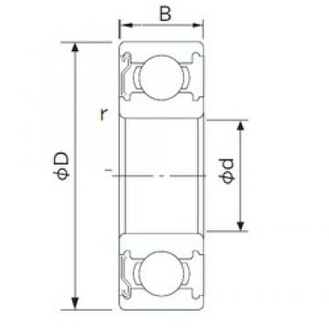 80 mm x 140 mm x 26 mm  CYSD 6216-Z deep groove ball bearings