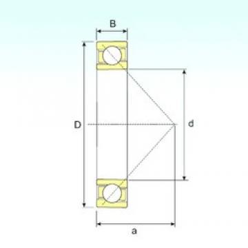 65 mm x 120 mm x 23 mm  ISB 7213 B angular contact ball bearings