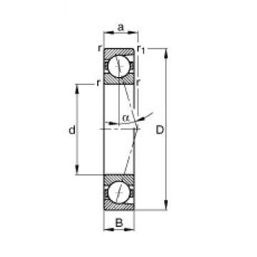 65 mm x 120 mm x 23 mm  FAG B7213-C-T-P4S angular contact ball bearings