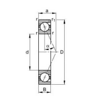 80 mm x 140 mm x 26 mm  FAG B7216-E-T-P4S angular contact ball bearings