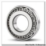 30 mm x 72 mm x 19 mm  FBJ 30306 tapered roller bearings