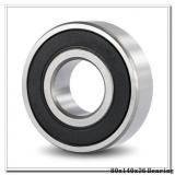80 mm x 140 mm x 26 mm  NSK 6216 deep groove ball bearings